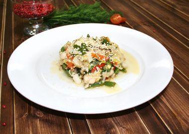 Судак Wok с овощами