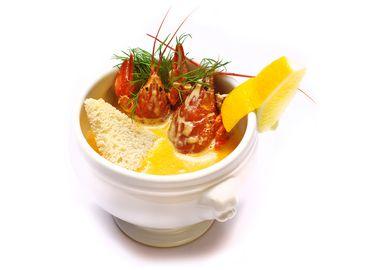 Сливочный суп с раками