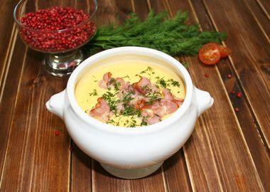 Суп-пюре картофельный с беконом