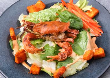 Салат с мягким крабом