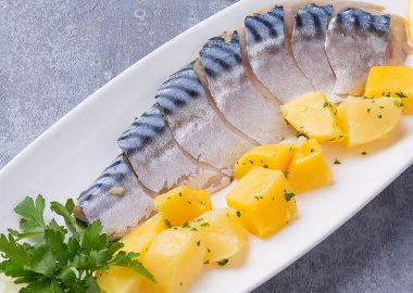 Spicy salted mackerel fillet