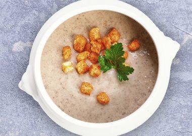 Mushroom soup-puree