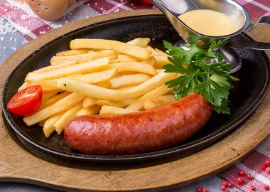 Krain cheese sausage