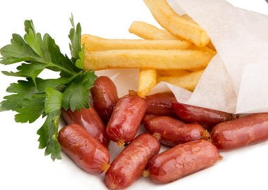 Dry-cured mini sausages