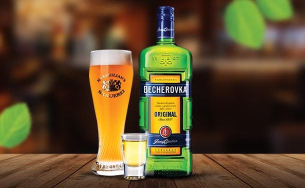 Сет пиво Maximilian's ишот «Бехеровка»