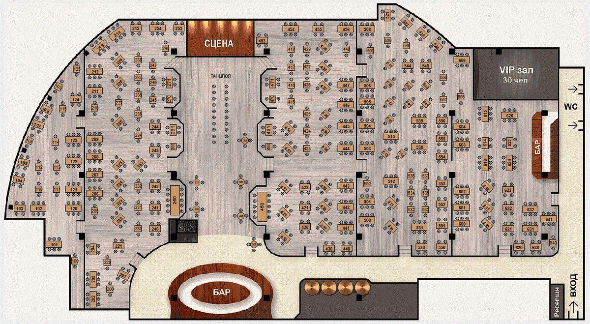 Ресторан схема зала ресторана