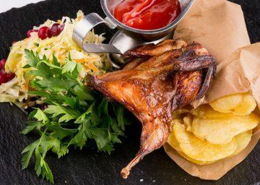Запеченные перепела —царское блюдо