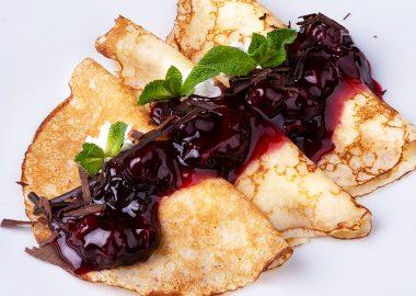 Блинчики со сливочно-сырной начинкой