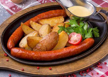 Дебрецинские подкопченые колбаски